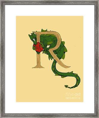 Dragon Letter R Framed Print
