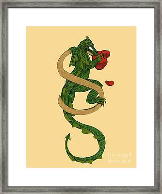 Dragon Letter S Framed Print by Donna Huntriss