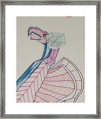 Dragon Lines Framed Print by Carolina Campbell
