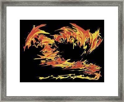 Dragon Framed Print by Matthew Angelo