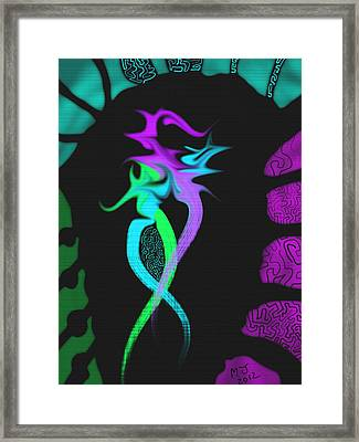 Dragon Framed Print by Michael Jordan
