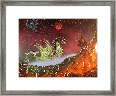 Framed Print featuring the painting Dragon by Michael Rucker