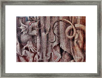 Dragon. National Gallery In Prague. Czech Republic. Framed Print by Andy Za