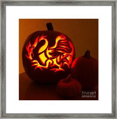 Dragon Light Of Fall Framed Print