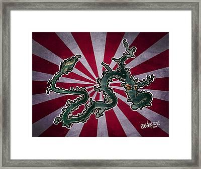 Dragon Of The Colorado Framed Print