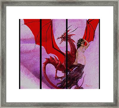 Dragon Power-featured In Comfortable Art Group Framed Print by EricaMaxine  Price