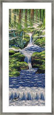 Dragon Resting Framed Print by Mario Labonte