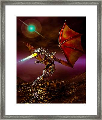 Dragon Rider Framed Print by Bob Orsillo