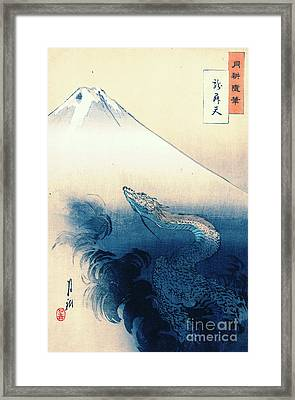 Dragon Rising To The Heavens 1897 Framed Print