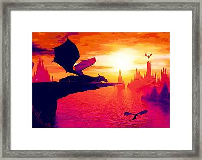 Awesome Dragon Framed Print by David Mckinney