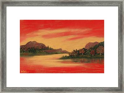 Dragon Sunset Framed Print