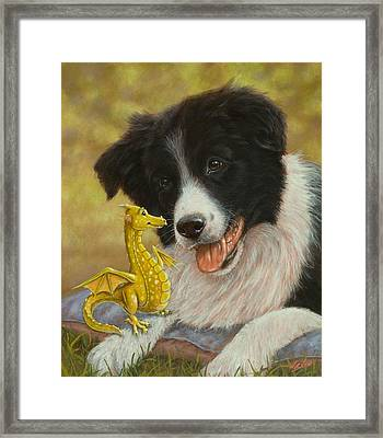 Dragon Tails Framed Print by John Silver