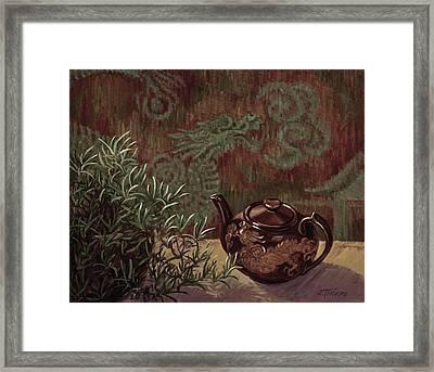 Dragon Teapot Framed Print by Jane Thorpe