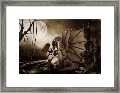 Dragon Whispers  Framed Print