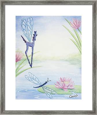Dragonflicker Framed Print by Cathy Cleveland