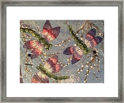 Framed Print featuring the painting Dragonflies 5 by Megan Walsh
