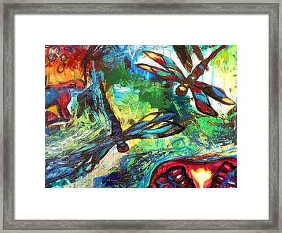 Dragonflies Abstract 3 Framed Print by Genevieve Esson