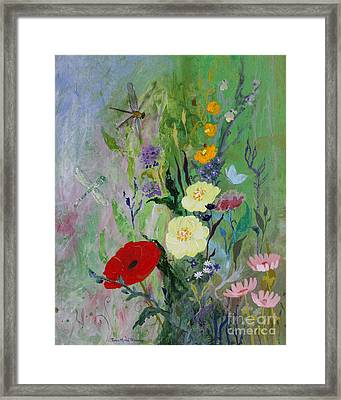 Dragonflies Dancing Framed Print