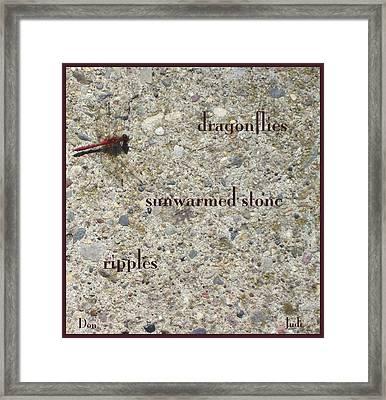Dragonflies Haiga Framed Print