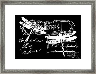 Dragonflies Postcard 1 Framed Print