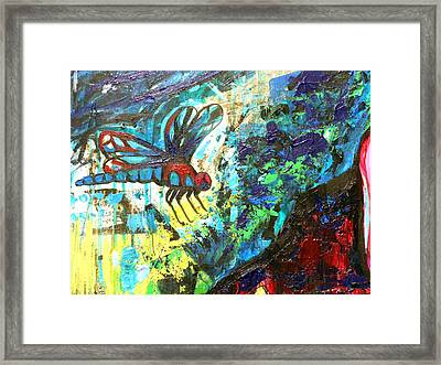 Dragonfly Abstract 1 Framed Print by Genevieve Esson