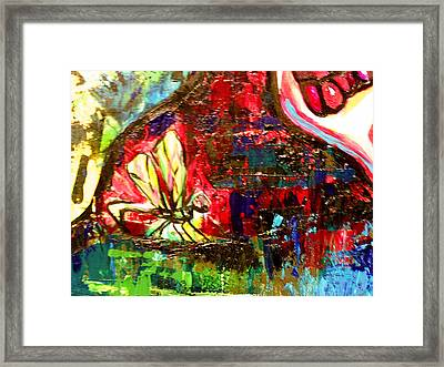 Dragonfly Abstract 2 Framed Print by Genevieve Esson