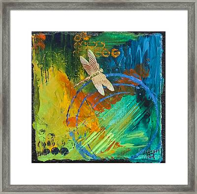 Dragonfly Abstract Framed Print by Tracy L Teeter