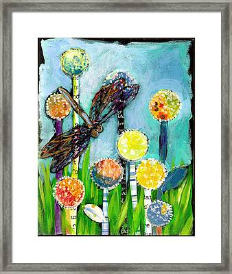 Dragonfly And The Dandies Framed Print