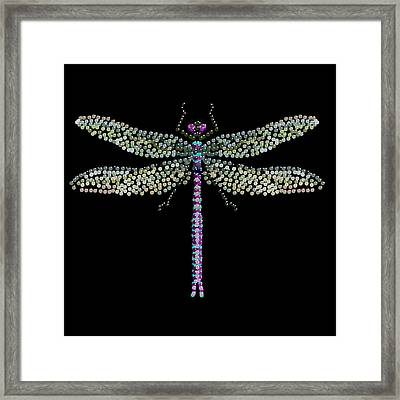 Dragonfly Bedazzled Framed Print by R  Allen Swezey