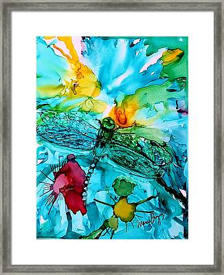 Dragonfly Blues Framed Print