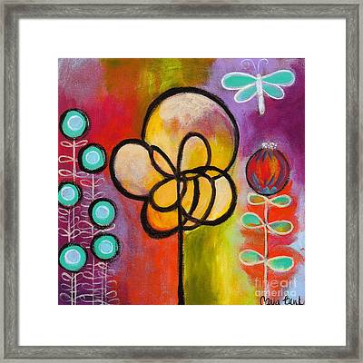 Dragonfly Framed Print by Carla Bank