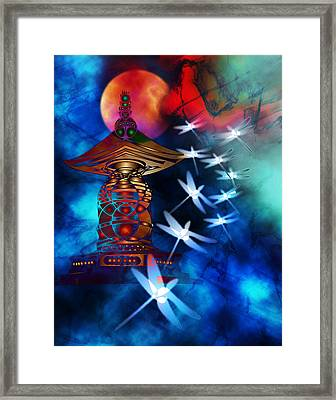 Dragonfly Dance Framed Print by Bruce Manaka
