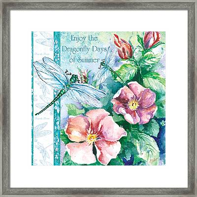 Dragonfly Days Framed Print