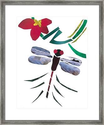 Dragonfly Framed Print by Earl ContehMorgan