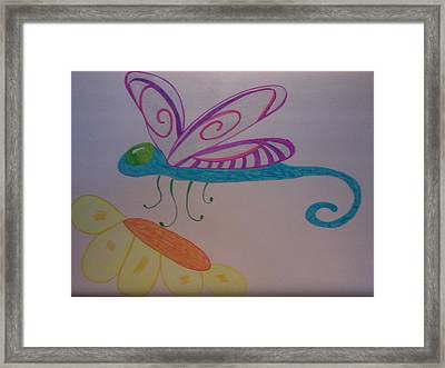 Dragonfly Framed Print by Erica  Darknell
