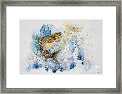 Dragonfly Hunter Framed Print