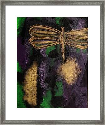 Dragonfly Framed Print by Artists With Autism Inc