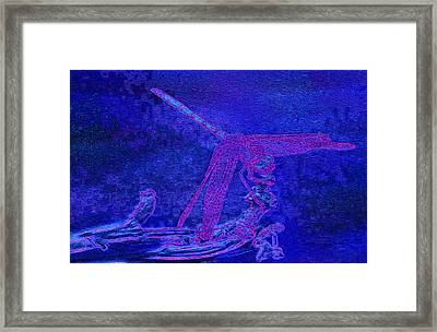 Dragonfly Painted Framed Print by Jack Zulli