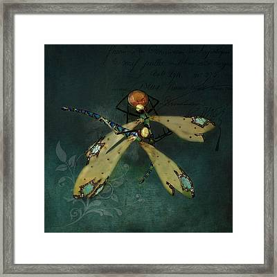 Dragonfly Romance Framed Print by Terry Fleckney