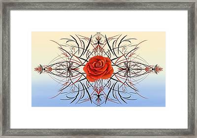Dragonfly Rose Framed Print