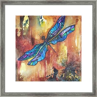 Dragonfly Rust Framed Print