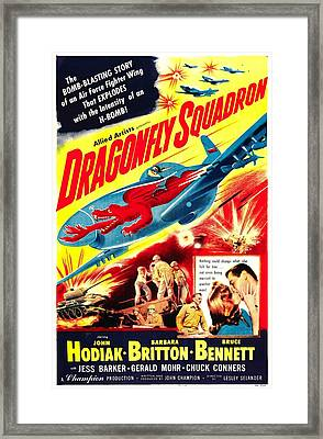 Dragonfly Squadron, Bottom From Left Framed Print by Everett