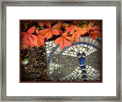 Framed Print featuring the photograph Dragonfly Stepping Stone by Heidi Manly