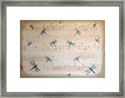 Dragonfly Symphony Framed Print by Cindy Micklos