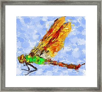 Dragonfly Thinking Framed Print by Yury Malkov