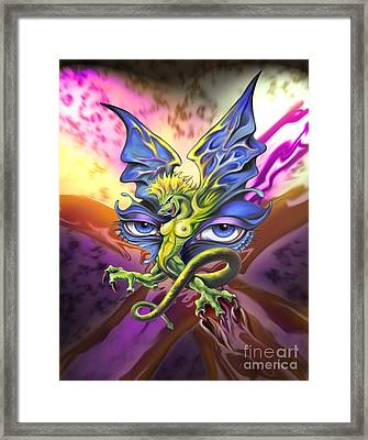 Dragons Eyes By Spano Framed Print by Michael Spano