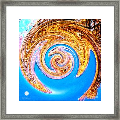 Framed Print featuring the digital art Dragon's Lair by Cristophers Dream Artistry