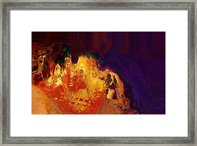 Dragon's Teeth Cave Framed Print by Constance Krejci