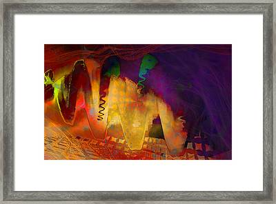 Dragon's Teeth Framed Print by Constance Krejci