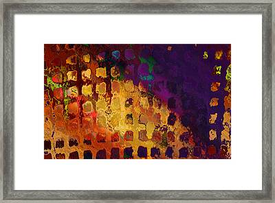 Dragon's Teeth Fire Grate Framed Print by Constance Krejci